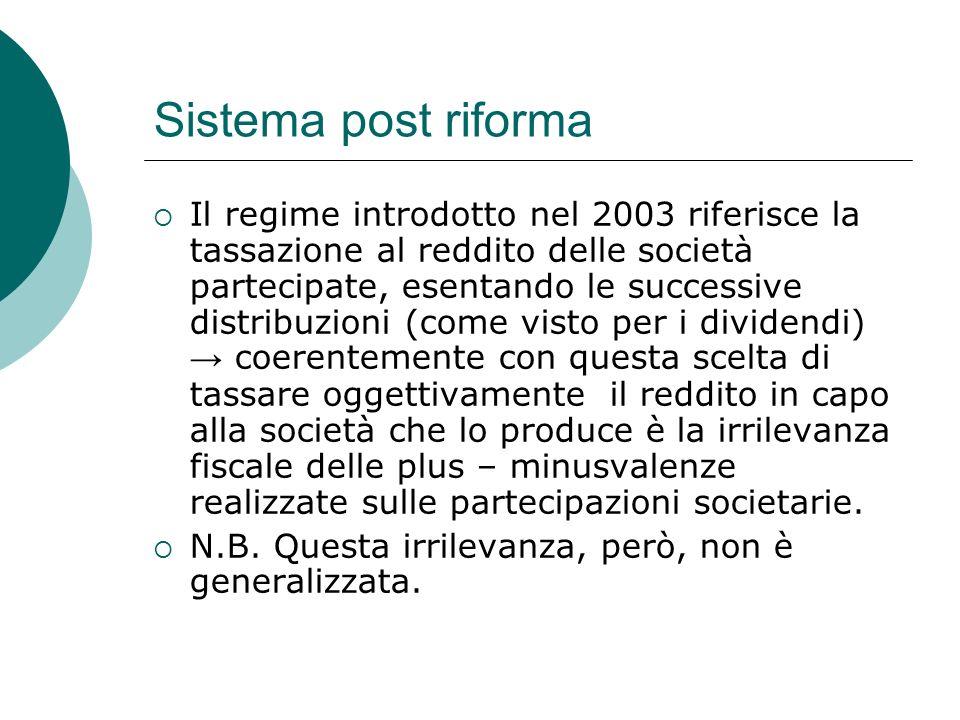 Sistema post riforma