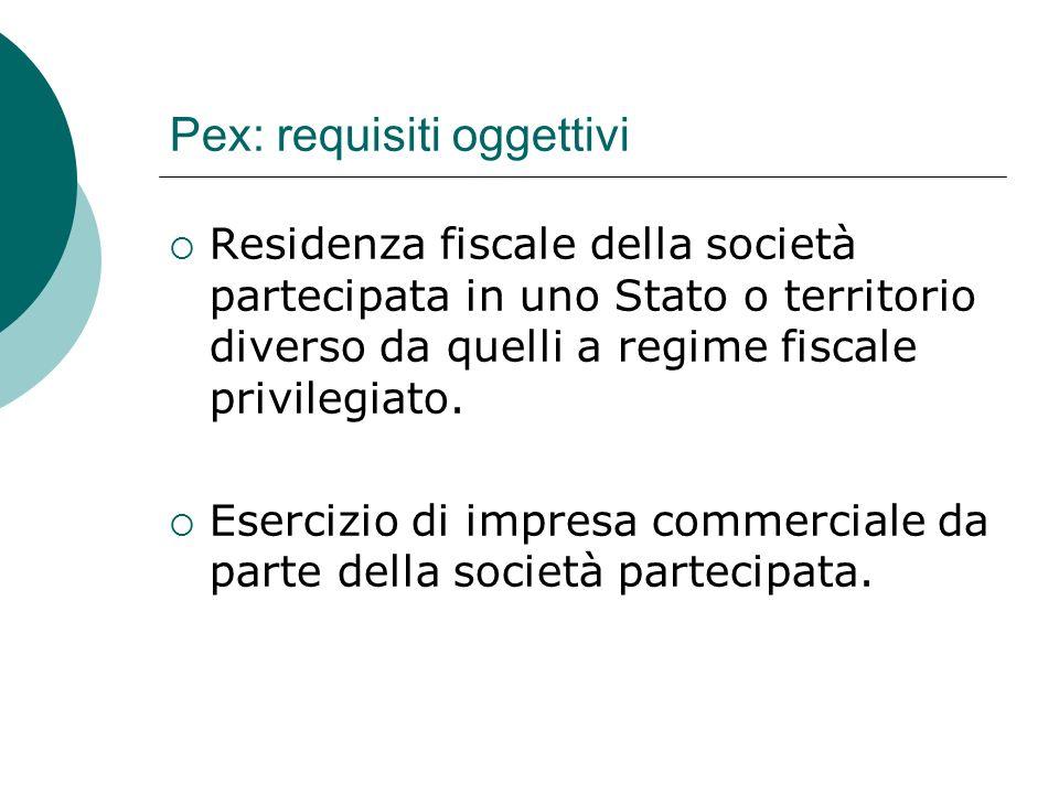 Pex: requisiti oggettivi