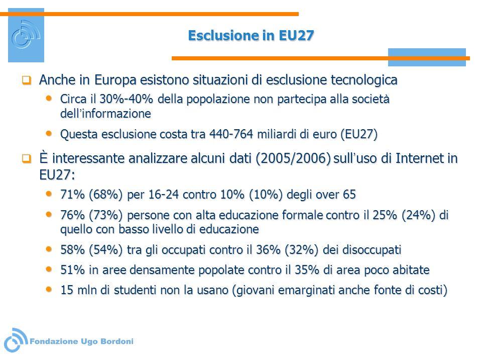 Anche in Europa esistono situazioni di esclusione tecnologica