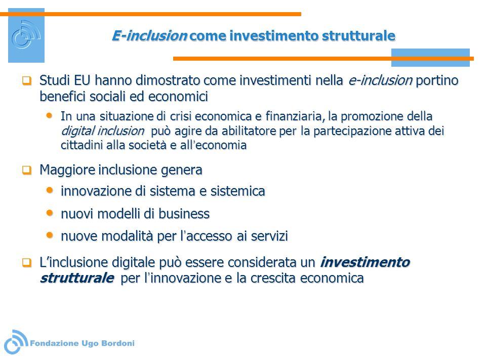 E-inclusion come investimento strutturale