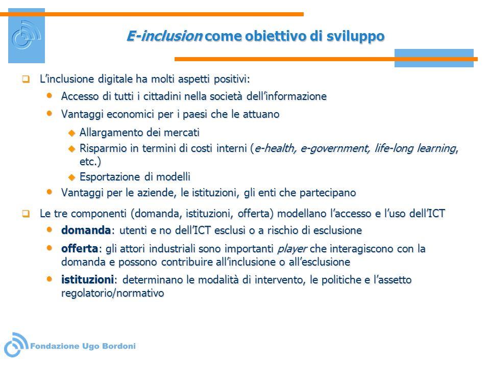E-inclusion come obiettivo di sviluppo