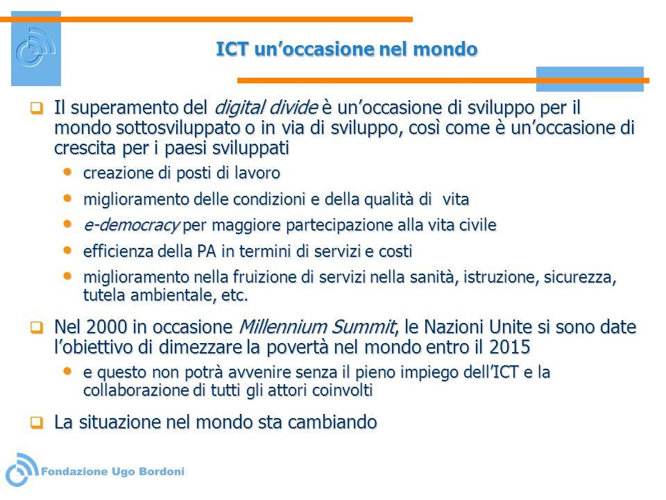 ICT un'occasione nel mondo