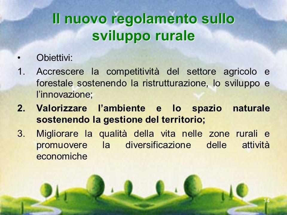 Il nuovo regolamento sullo sviluppo rurale