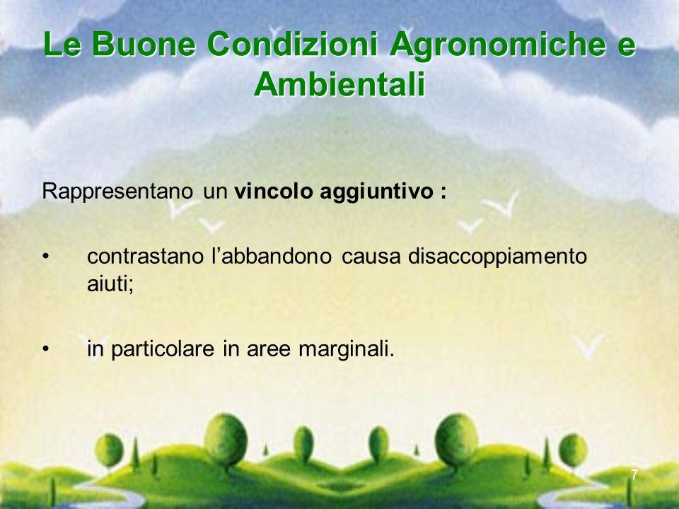 Le Buone Condizioni Agronomiche e Ambientali