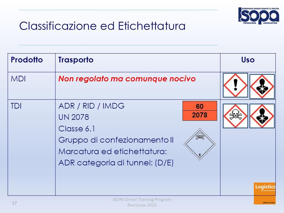 Classificazione ed Etichettatura