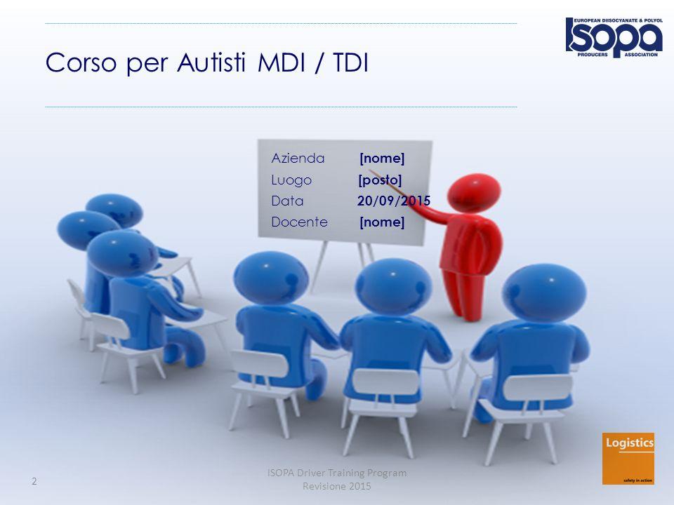 Corso per Autisti MDI / TDI