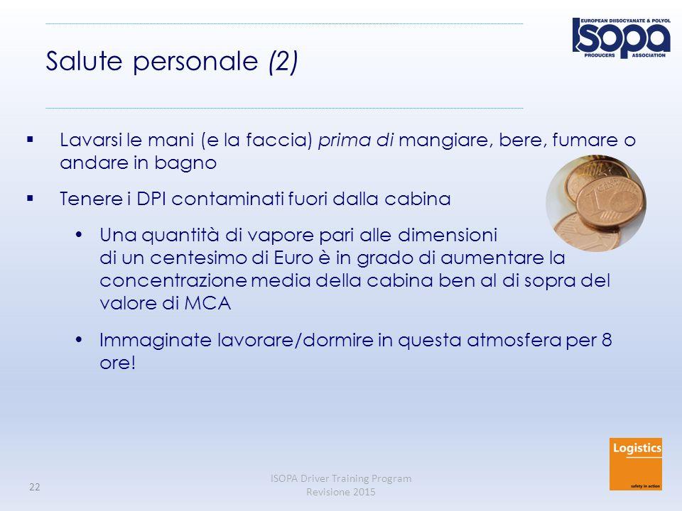 Salute personale (2) Lavarsi le mani (e la faccia) prima di mangiare, bere, fumare o andare in bagno.