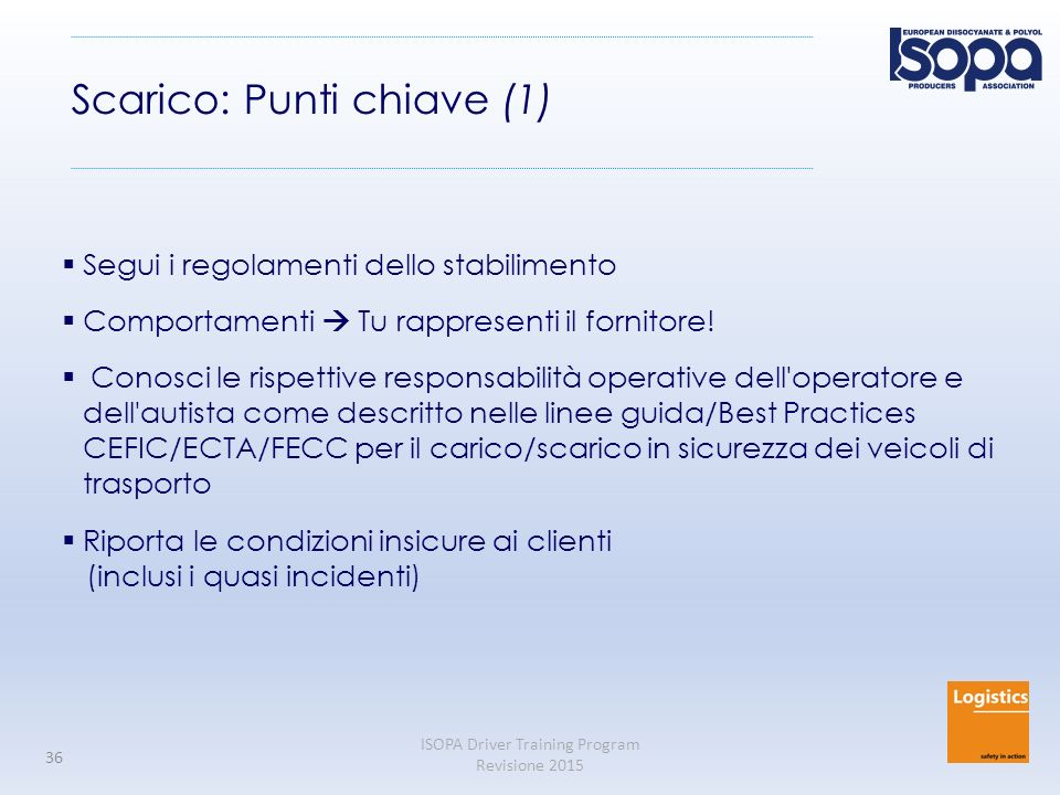 Scarico: Punti chiave (1)