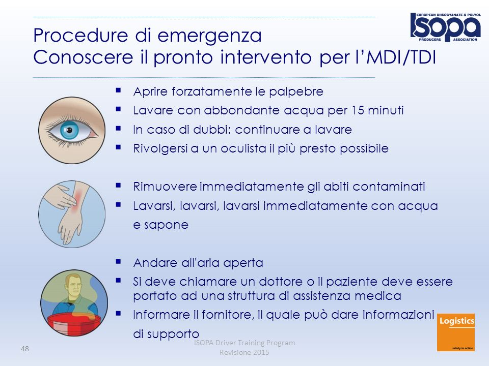 Procedure di emergenza Conoscere il pronto intervento per l'MDI/TDI