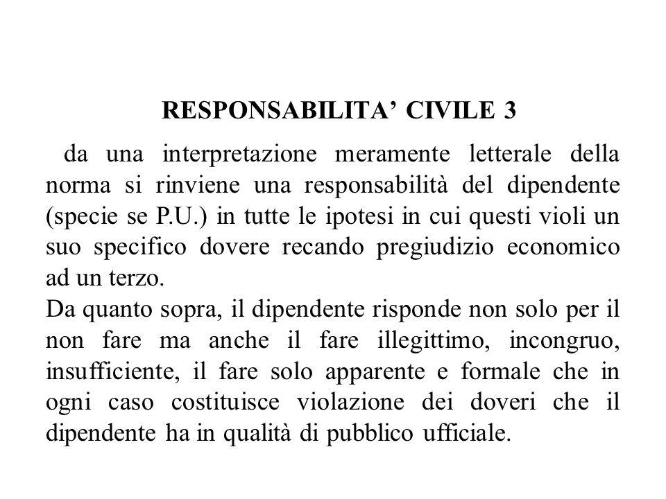 RESPONSABILITA' CIVILE 3