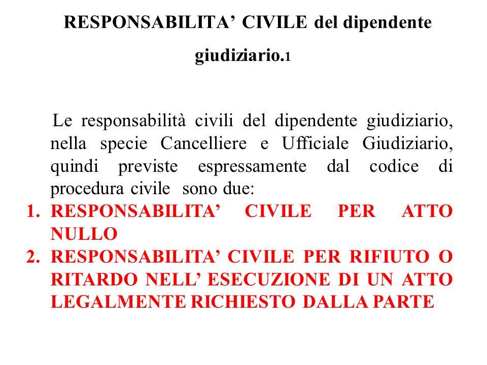 RESPONSABILITA' CIVILE del dipendente giudiziario.1