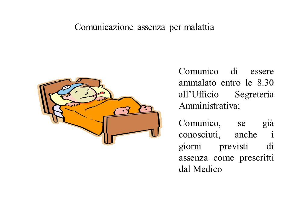 Comunicazione assenza per malattia