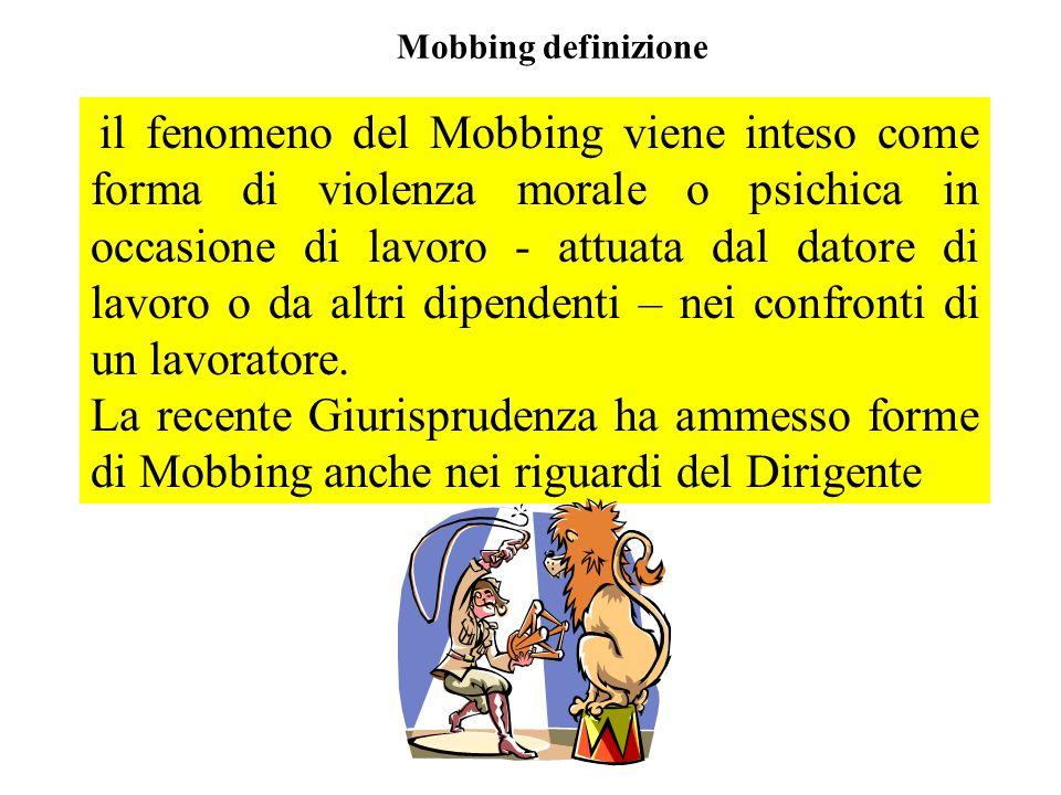 Mobbing definizione