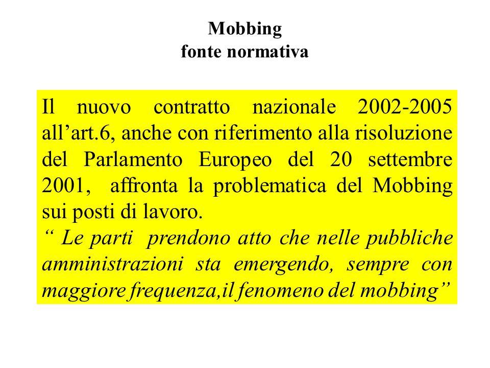 Mobbing fonte normativa