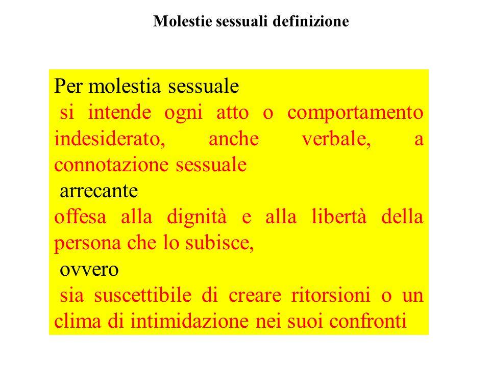 Molestie sessuali definizione