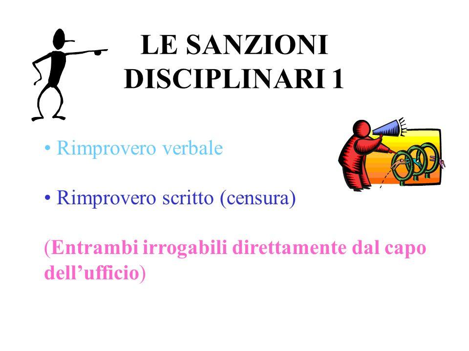 LE SANZIONI DISCIPLINARI 1