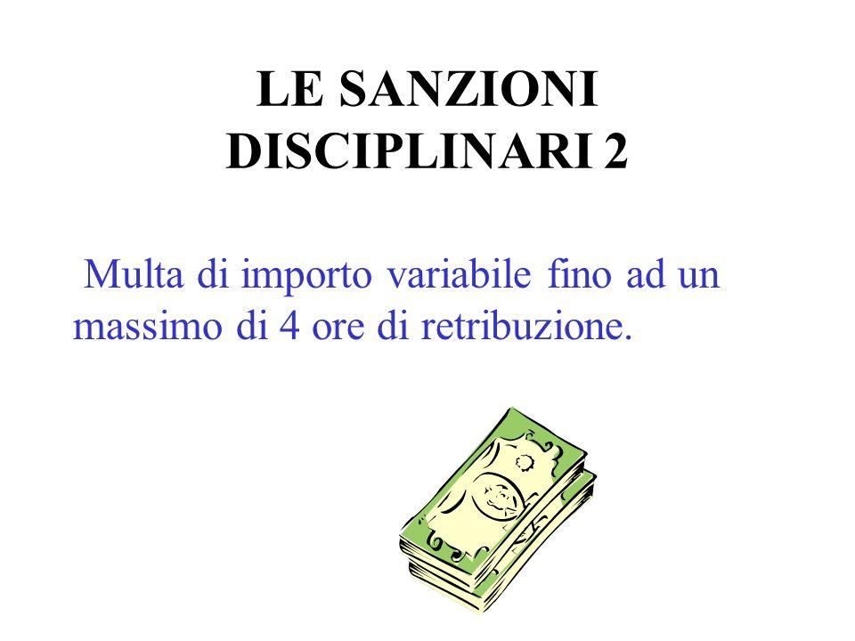 LE SANZIONI DISCIPLINARI 2