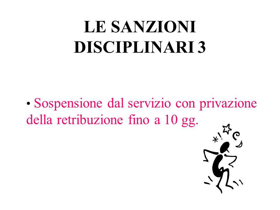 LE SANZIONI DISCIPLINARI 3