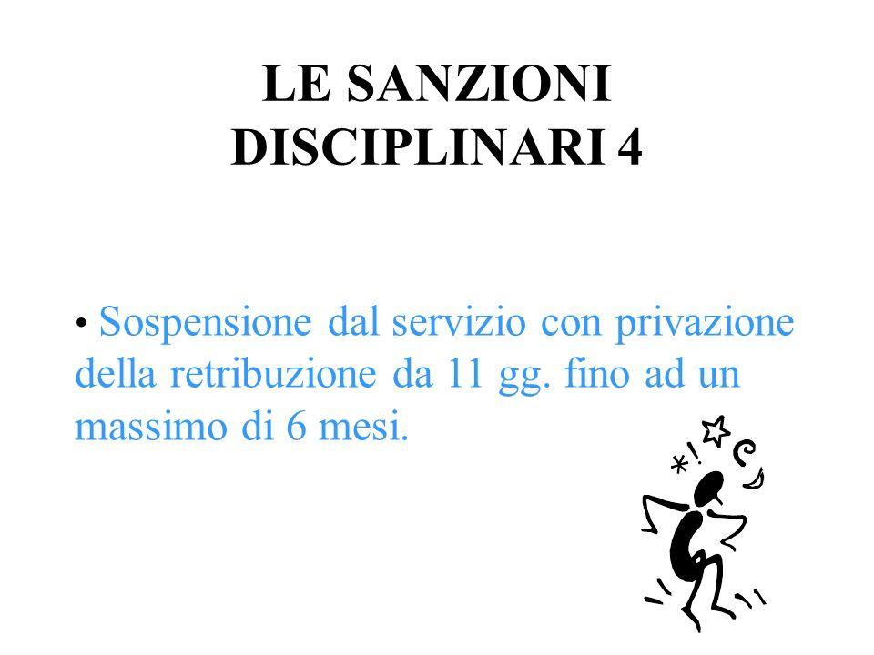 LE SANZIONI DISCIPLINARI 4