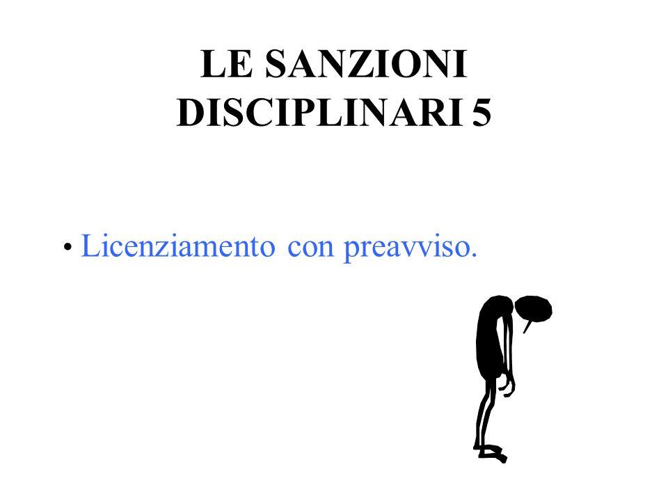 LE SANZIONI DISCIPLINARI 5