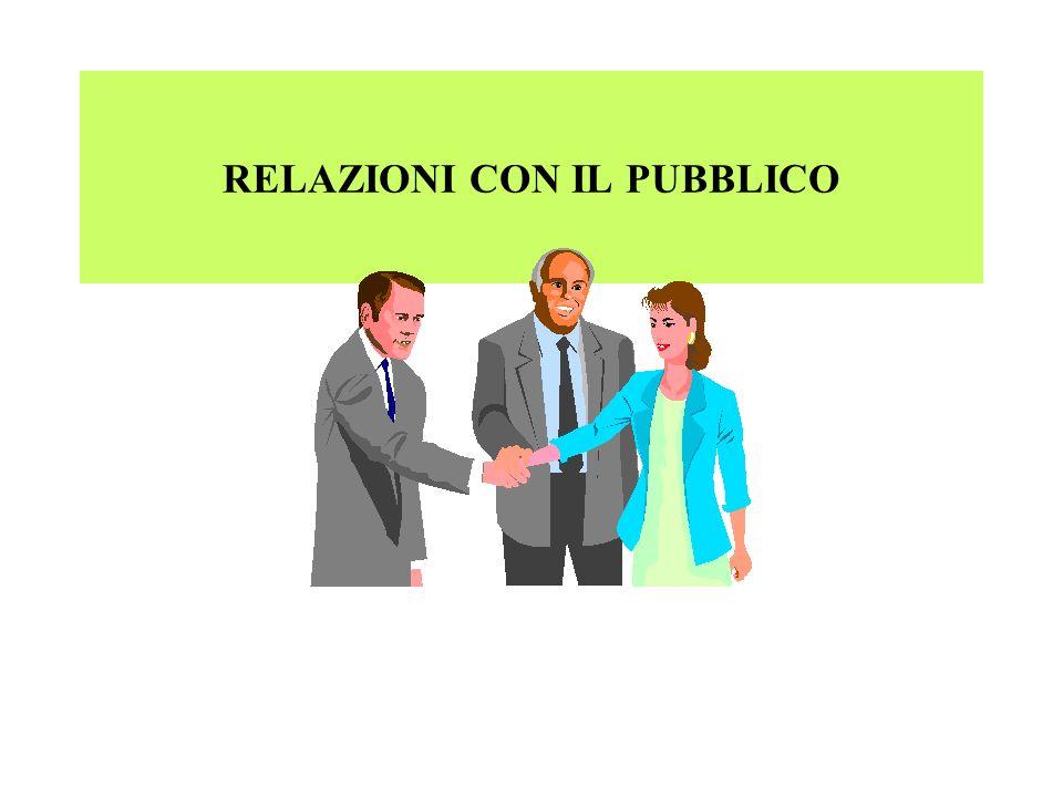 RELAZIONI CON IL PUBBLICO