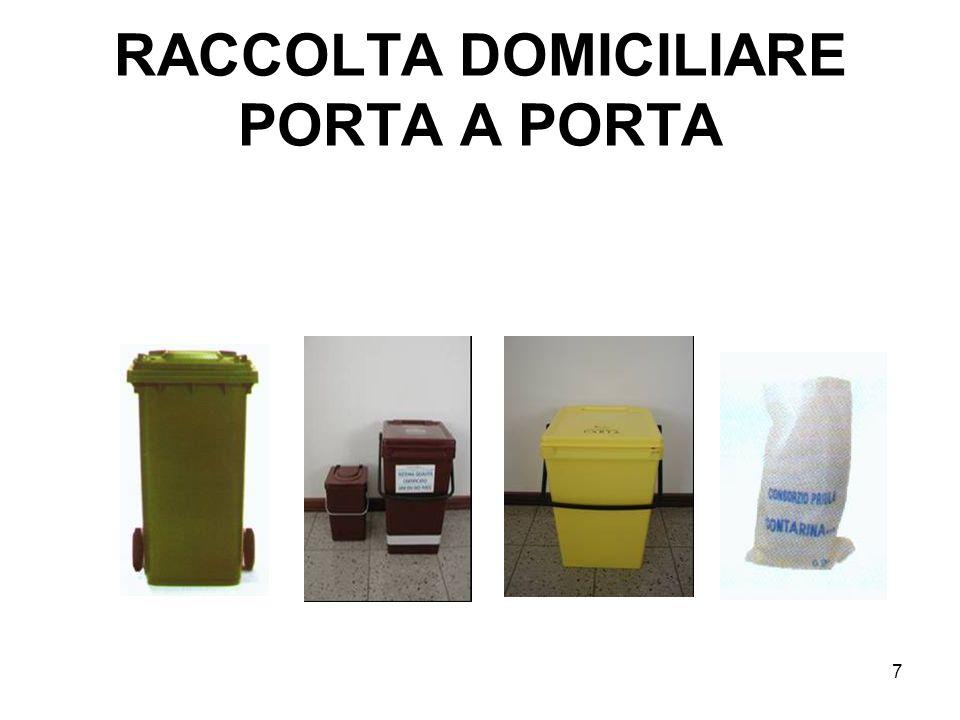 RACCOLTA DOMICILIARE PORTA A PORTA