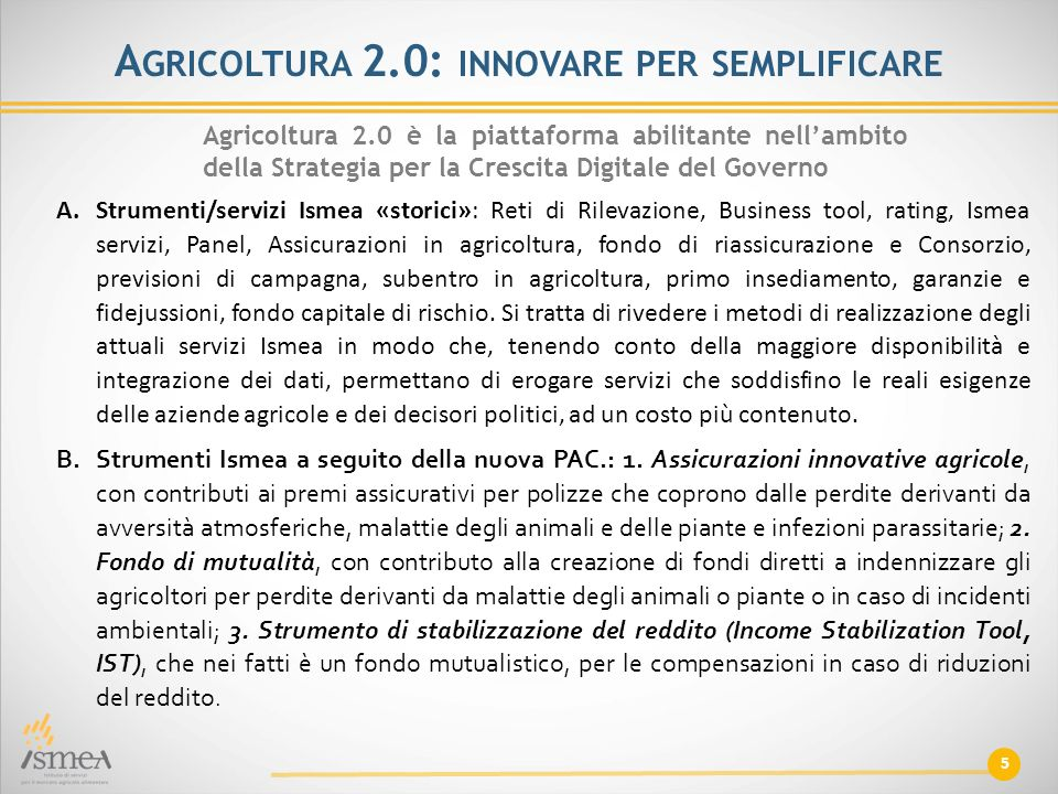 Agricoltura 2.0: innovare per semplificare