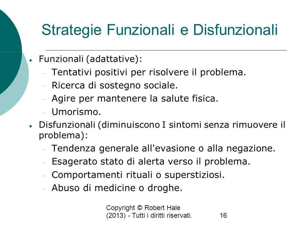 Strategie Funzionali e Disfunzionali