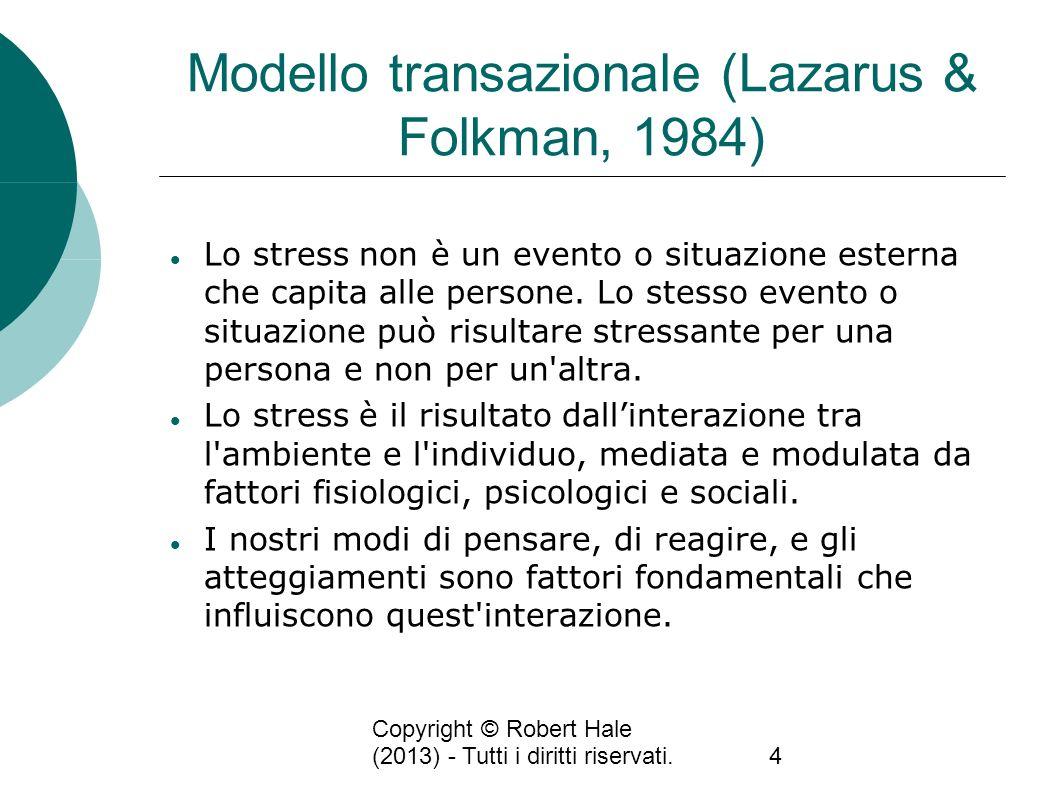 Modello transazionale (Lazarus & Folkman, 1984)