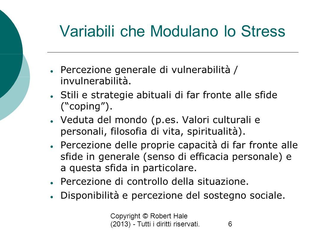 Variabili che Modulano lo Stress