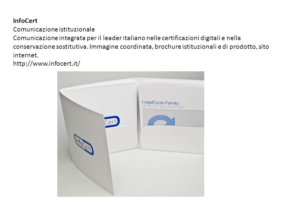 InfoCert Comunicazione istituzionale.