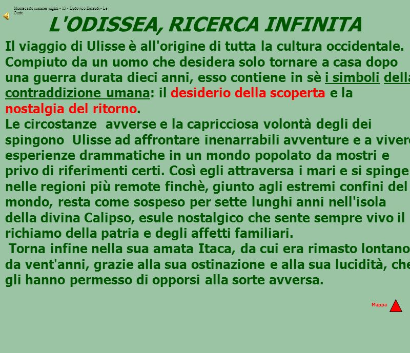 L ODISSEA, RICERCA INFINITA
