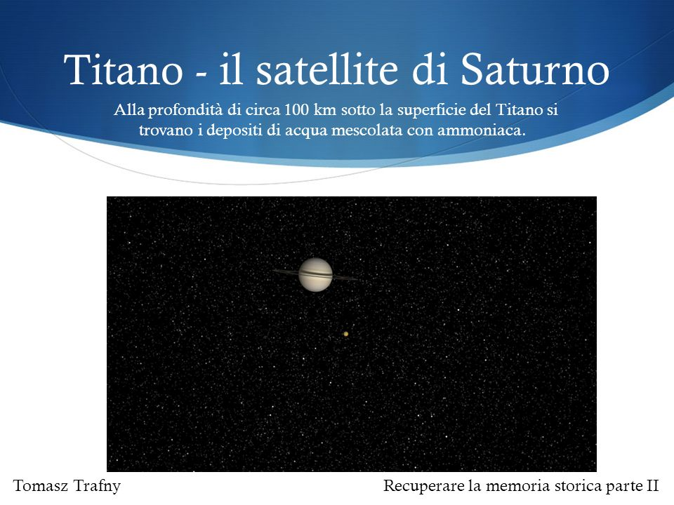 Titano - il satellite di Saturno