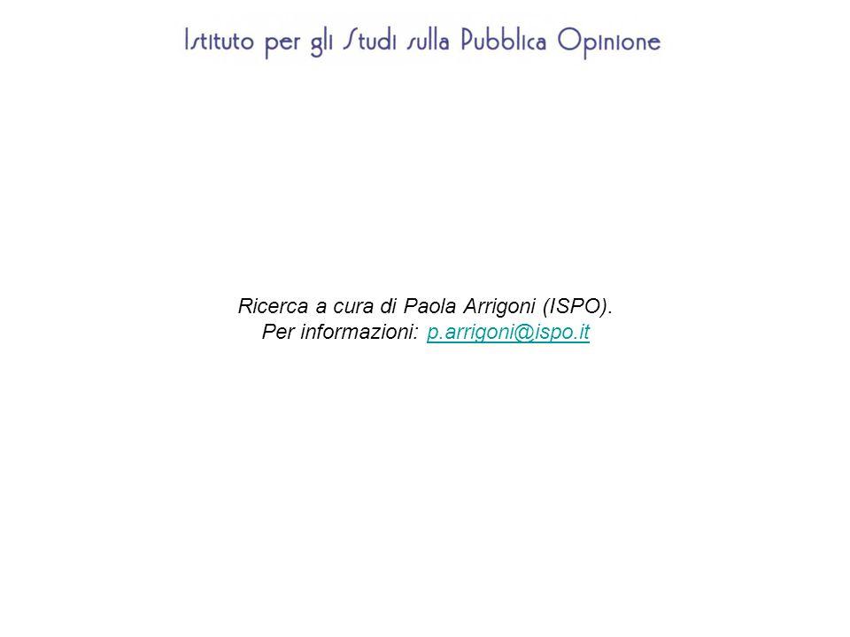Ricerca a cura di Paola Arrigoni (ISPO).
