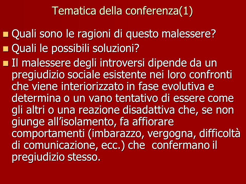 Tematica della conferenza(1)