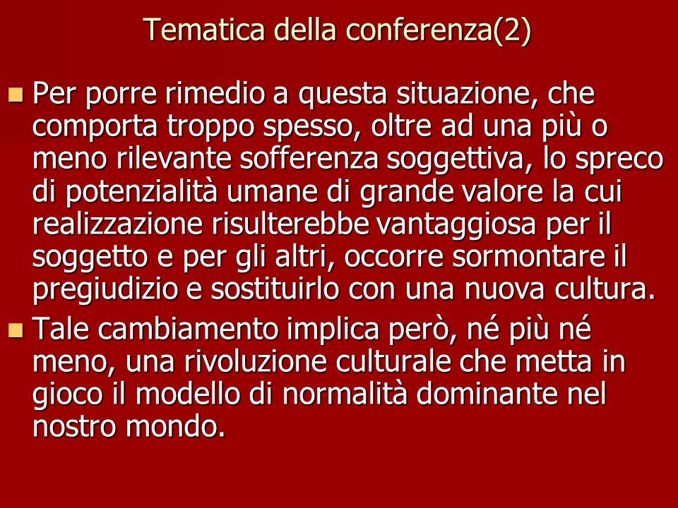 Tematica della conferenza(2)