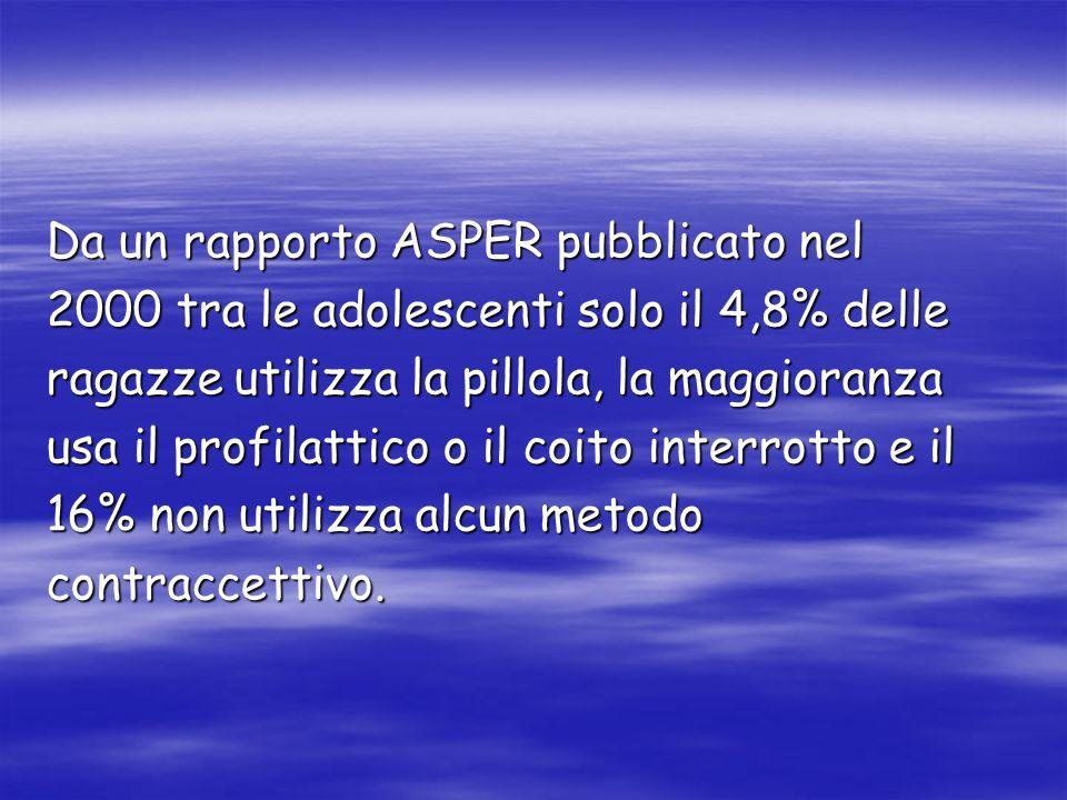 Da un rapporto ASPER pubblicato nel
