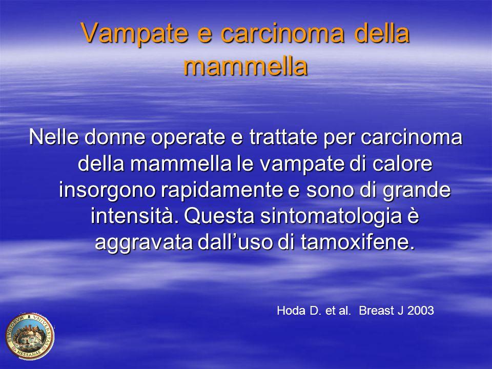 Vampate e carcinoma della mammella