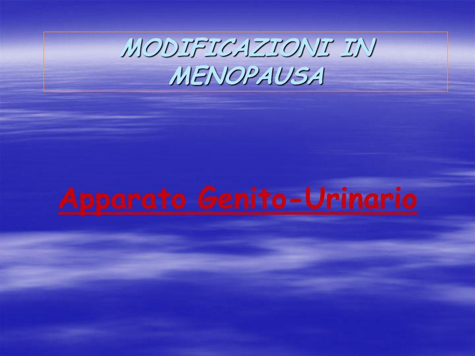 MODIFICAZIONI IN MENOPAUSA