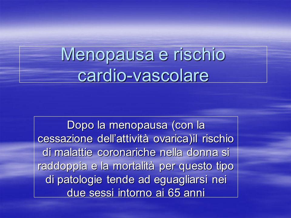 Menopausa e rischio cardio-vascolare