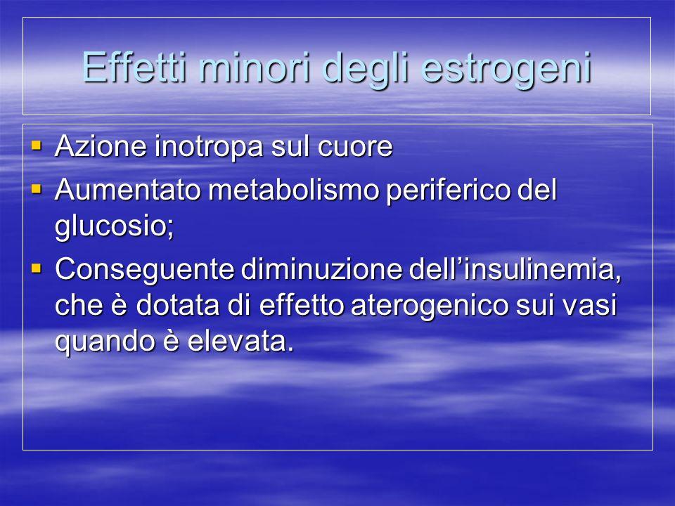 Effetti minori degli estrogeni