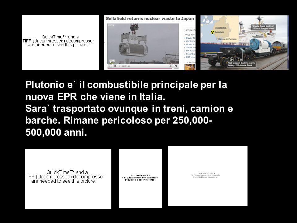 Plutonio e` il combustibile principale per la nuova EPR che viene in Italia.