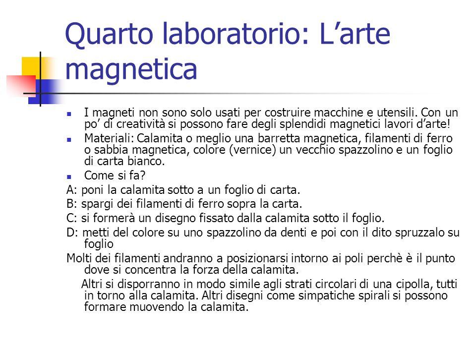 Quarto laboratorio: L'arte magnetica