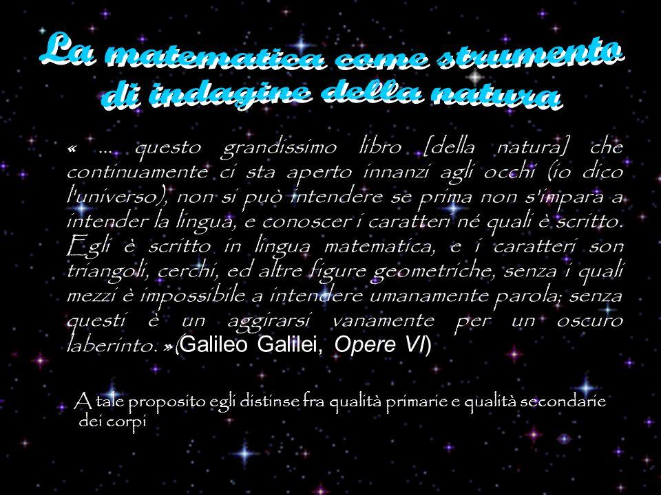 La matematica come strumento di indagine della natura