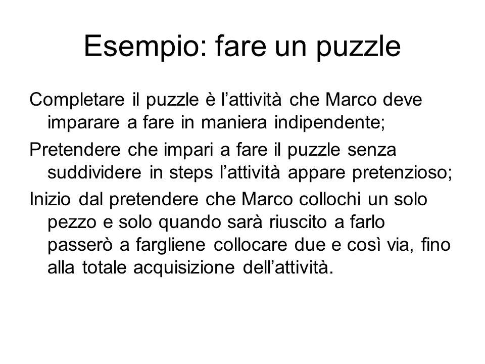 Esempio: fare un puzzle
