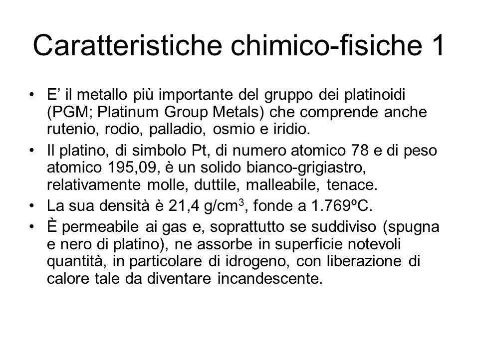 Caratteristiche chimico-fisiche 1