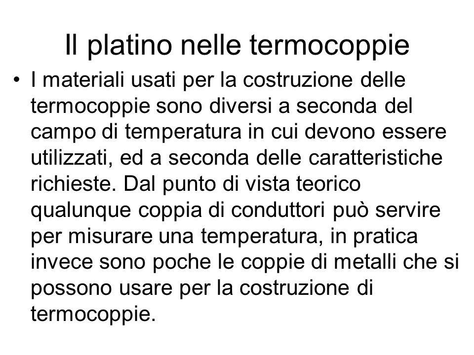 Il platino nelle termocoppie
