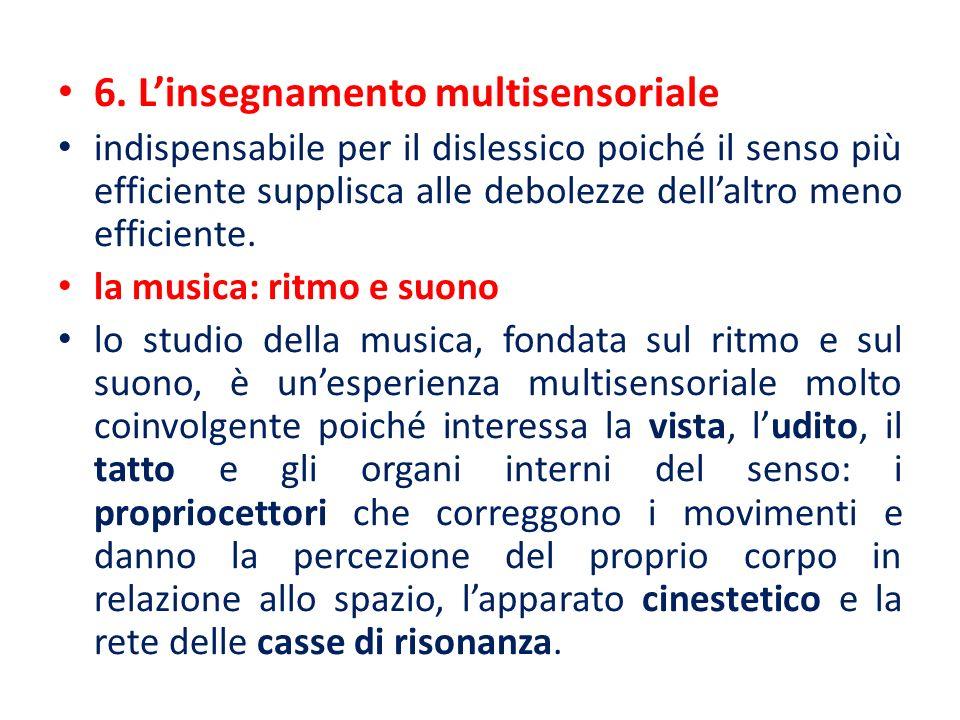 6. L'insegnamento multisensoriale