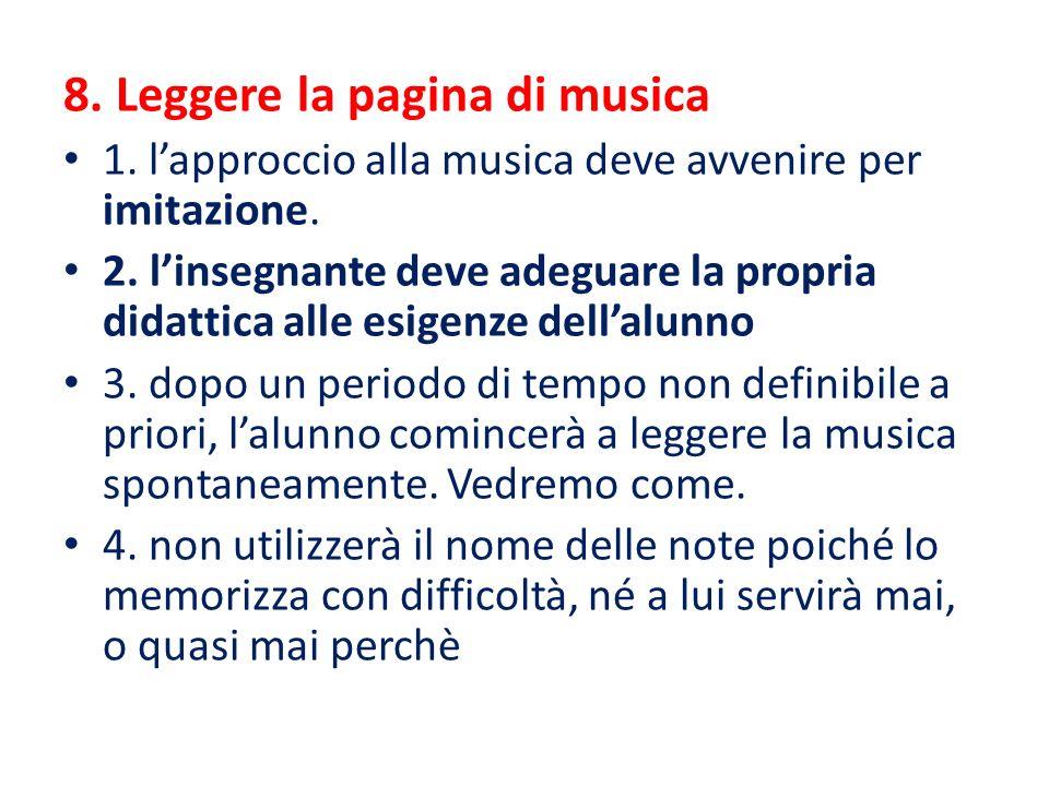 8. Leggere la pagina di musica