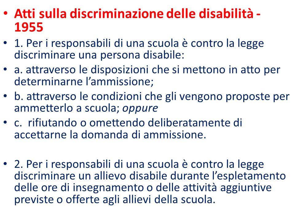 Atti sulla discriminazione delle disabilità - 1955